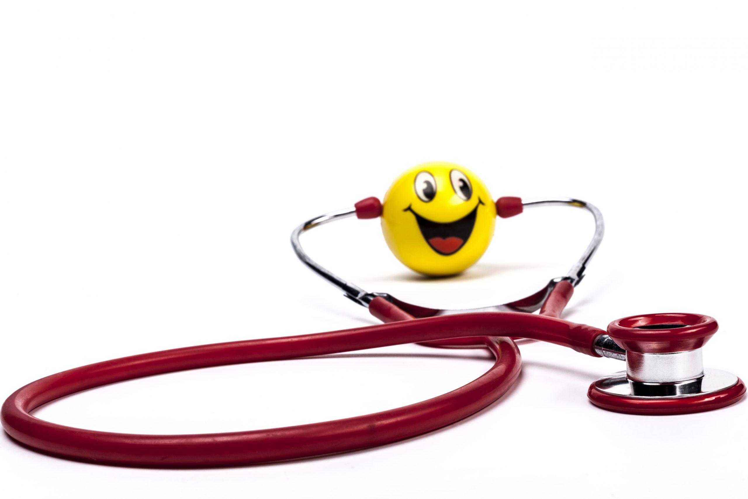 Happy Red Stethoscope